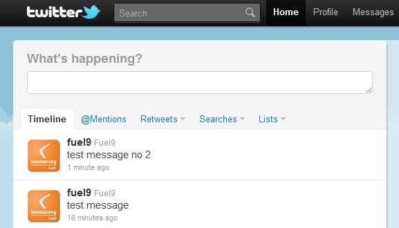 Twitter Updates | Boomerang Notification Framework